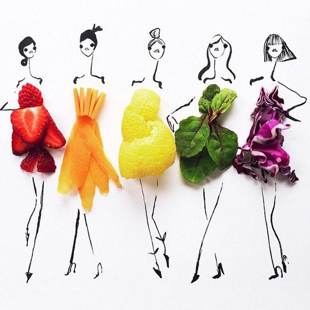 imagem de alguns alimentos com fibras