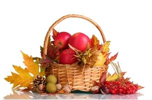 cesta de frutos
